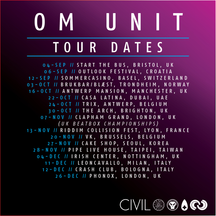 ​Om Unit Tour dates AUTUM/WINTER 2015